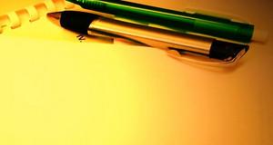 Stifte und Papier