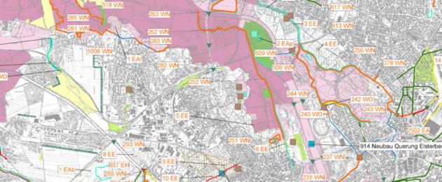 Kartenausschnitt aus dem Plan der Strategischen Umweltprüfung