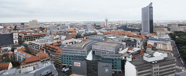 Innenstadt Schrägluftbild auf Burgplatz