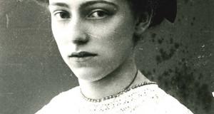 Porträtfoto schwarz-weiß, Lene Voigt (um 1910)
