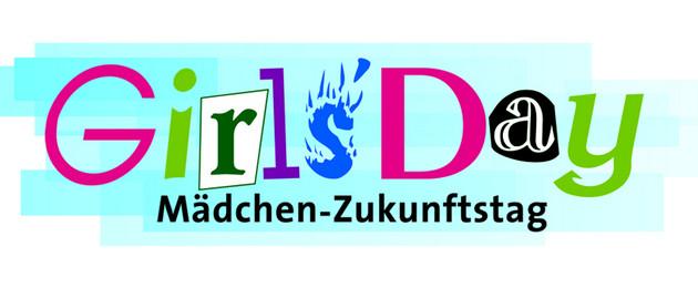 Girls' Day Logo, ein Schriftzug in farbig und graphisch gestalteten Buchstaben
