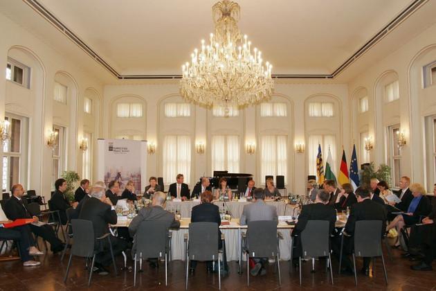 Veranstaltungen im Rahmen der EU-Ratspräsidentschaft Deutschlands im Jahr 2007 in der Alten Handelsbörse.
