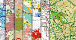 Bildausschnite der verschiedenen, im Landschaftsplan zusammengefassten, Karten