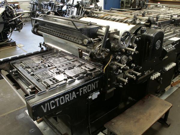 Fotografie einer Druckmaschine