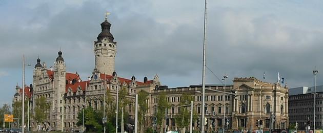 Blick auf das Neue Rathaus Leipzig