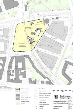 Bild wird vergrößert: Lageplan Wilhelm-Leuschner-Platz