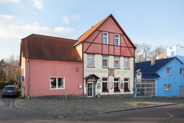 """Bild wird vergrößert: Gebäude der Gaststätte """"Zur Ratte"""""""