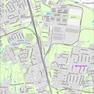Stadtplan der Stadt Leipzig mit Gebäuden aus der digitalen Stadtkarte