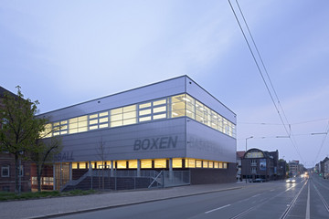 Bild wird vergrößert: Gebäudeansicht Sporthalle Heisenberggymnasium