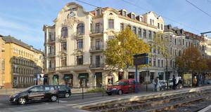Sanierungsgebiet Prager Straße, Blick auf den Ostplatz