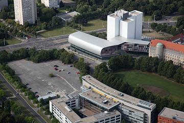 Bild wird vergrößert: Gebäudeansicht Deutsche Nationalbibliothek in Leipzig - Erweiterung