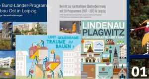 Eine Zusammenstellung mit Ausschnitten aus verschiedenen Titeln von Publikationen des Amtes für Stadterneuerung und Wohnungsbauförderung.