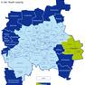 Karte der Leipziger Ortsteile und Ortschaften - Engelsdorf hervorgehoben