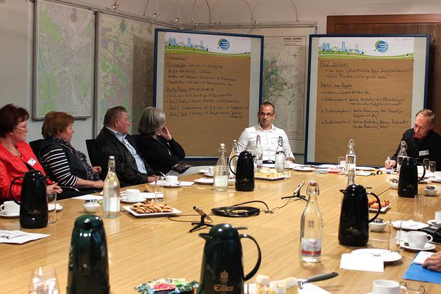 Bild einer Arbeitsgruppe im Workshop zum Thema Finanzen im Rahmen von Leipzig weiter denken