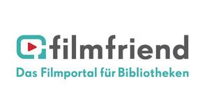 """Logo Filmfriend, Schriftzug """"Filmfriend, das Filmportal für Bibliotheken"""""""