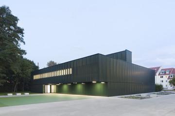 Bild wird vergrößert: Gebäudeansicht Einfeldersporthalle der Mehring-Schule