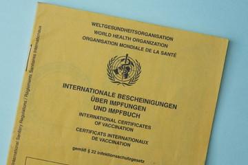 Bild wird vergrößert: Internationaler Impfausweis