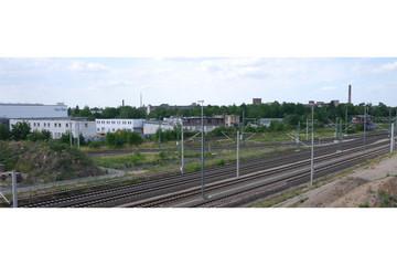 Bild wird vergrößert: Blick über Gleisanlagen im Leipziger Westen