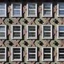 Häuserfassade im Stil des Art déco