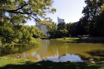 Bild wird vergrößert: Schwanenteichanlage im oberen Park des Promenadenrings