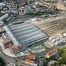Luftbild des Leipziger Hauptbahnhofes