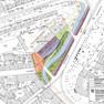 Entwurfsplan, der den Verlauf des Pleißemühlgrabens entlang des Goerdelerrings zeigt.