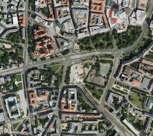 Luftbild Wettbewerbsstandort Wihelm-Leuschner-Platz