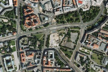 Bild wird vergrößert: Luftbild Wettbewerbsstandort Wihelm-Leuschner-Platz