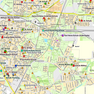 Übersichtskarte mit Standorten von Schulen, Sporthallen, Kindertagesstätten und Verwaltungsobjekten