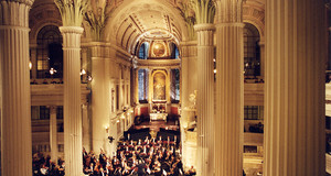 Gewandhausorchester gives a concert in Church of St. Nicholas