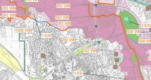 Ausschnitt aus der Karte zur Strategischen Umweltverträglichkeitsprüfung