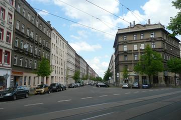 Bild wird vergrößert: Blick in die Gorkistraße Leipzig