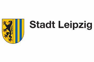Bild wird vergrößert: Stadtwappen der Stadt Leipzig mit Schriftzug Stadt Leipzig