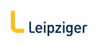 Logo Leipziger Gruppe mit einem großem gelben L und dem Schriftzug Leipziger