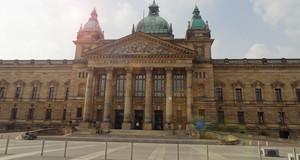 Blick auf Haupteingang des Bundesverwaltungsgerichtes