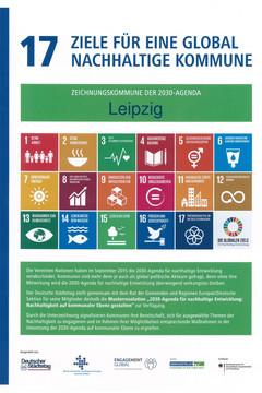 Bild wird vergrößert: Plakat mit den Zielen für eine global nachhaltige Kommune