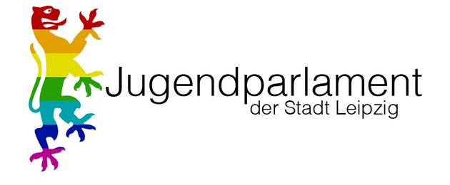 Logo Jugendparlament Leipzig mit buntem Stadtlöwen