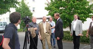 Rundgang zur OBM-Bürgersprechstunde im Ortsteil Engelsdorf