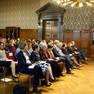 Publikum bei der Preisverleihung des Lousie-Otto-Peters-Preises in einem Saal des Neuen Rathauses.