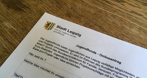 Ein Antragsformular für den Jugendfonds des Jugendparlaments.