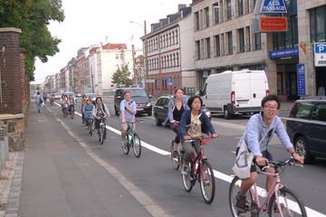 Bild wird vergrößert: Radfahrer auf der Georg-Schumann-Strasse