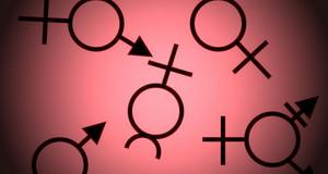 Symbole verschiedener Geschlechter