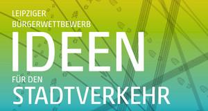 """Grafik zum Bürgerwettbewerb """"Iden für den Stadtverkehr"""" mit Fuß- und Reifenspuren und Straßenbahngleisen"""