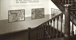 Historisches Foto des Treppenaufganges im Naturkundemuseum Leipzig