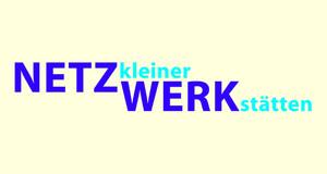 """Text """"Netz kleiner Werkstaetten"""" auf hellgelben Grund"""