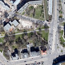 Luftbildaufnahme von Leipzig mit Blick auf eine Grünanlage am süd-westlichen Martin-Luther-Ring.