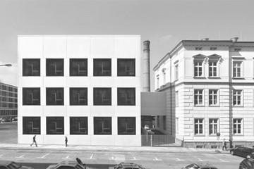 Bild wird vergrößert: Gebäudeansicht Sonderlabor der Universtität Leipzig