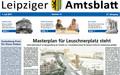 Titelseite des Leipziger Amtsblatts vom 1. Juli 2017 zeigt eine Visualisierung zur künftigen Gestaltung des Wilhelm-Leuschner-Platzes