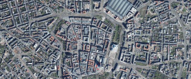Luftbildaufnahme von der Innenstadt Leipzigs aus dem Jahr 2019