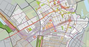 Ausschnitt aus dem Transformationsplan des Konzeptionellen Stadtteilplans West